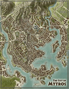 Odyssey of the Dragonlords RPG: Thylea & Mytros Double Sided Map (5E)