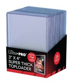 """Ultra Pro Toploaders: 3"""" X 4"""" Thick 75pt (25ct)"""