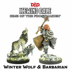 Dungeons & Dragons Miniatures: Icewind Dale - Rime of the Frostmaiden - Winter Wolf & Barbarian (PREORDER)