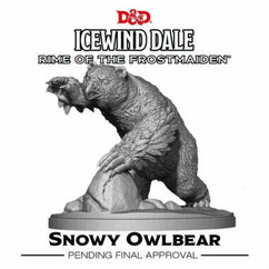 Dungeons & Dragons Miniatures: Icewind Dale - Rime of the Frostmaiden -  Snowy Owlbear