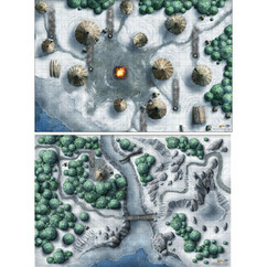 """Dungeons & Dragons 5E RPG: Icewind Dale - Encounter Map Set 20"""" x 30"""" (2)"""