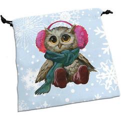 Deluxe Dice Bag: Festive Owls (PREORDER)
