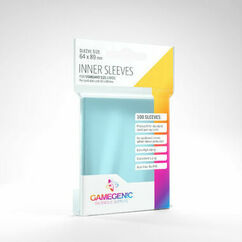Game Genic Sleeves: Clear Standard Size Inner Sleeves (100ct)