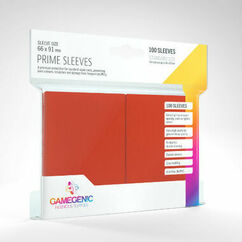 Game Genic Sleeves: Red Standard Size Prime Sleeves (100ct)