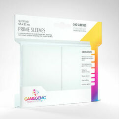 Game Genic Sleeves: White Standard Size Prime Sleeves (100ct)