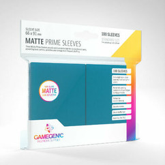 Game Genic Sleeves: Blue Standard Size Matte Prime Sleeves (100ct)