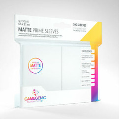 Game Genic Sleeves: White Standard Size Matte Prime Sleeves (100ct)