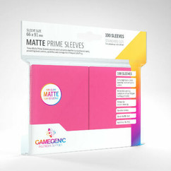 Game Genic Sleeves: Pink Standard Size Matte Prime Sleeves (100ct)