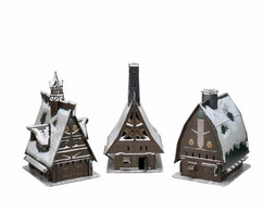 Dungeons & Dragons Miniatures:  Icons of the Realms - Icewind Dale Rime of the Frostmaiden - Ten Towns Papercraft Set