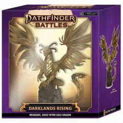 Pathfinder Battles Miniatures: Darklands Rising - Mengkare Great Wyrm Premium Set
