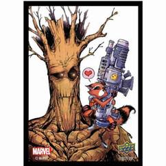 Upper Deck Sleeves: Marvel - Rocket & Groot (65ct)