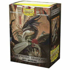 Dragon Shield: Valentine Dragon 2021 - Art, Brushed Card Sleeves (100ct)