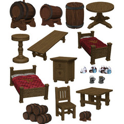 Dungeons & Dragons Miniatures: Icons of the Realms - Yawning Portal Inn - Beds & Bottles (PREORDER)