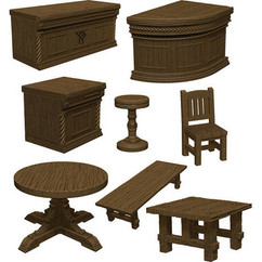 Dungeons & Dragons Miniatures: Icons of the Realms - Yawning Portal Inn -  Bars & Tables (PREORDER)