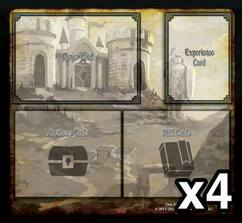 Tiny Epic Defenders: The Dark War Expansion Game Mats (4ct)