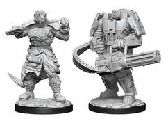 Starfinder Battles Deep Cuts Unpainted Miniatures: Vesk Soldier (Wave 15)
