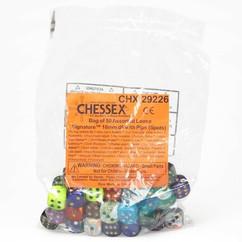 Chessex Dice: Signature - 16mm D6 Assorted Bag of Dice (50)