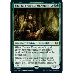 Titania, Protector of Argoth: Mythic #287 - Modern Horizons 2 (Foil Etched)