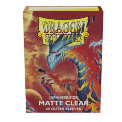 Dragon Shield: Clear Matte - Japanese Size Outer Sleeves (60ct)