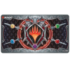 Ultra Pro Playmat: MTG - Adventures in the Forgotten Realms - Stylized Planeswalker Symbol (White Stitched)