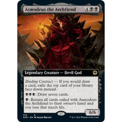 Asmodeus the Archfiend: Rare #373 - Adventures in the Forgotten Realms (Extended Art, Foil)