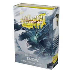 Dragon Shield: Snow - Japanese Size, Matte Dual Card Sleeves (60ct) (PREORDER)