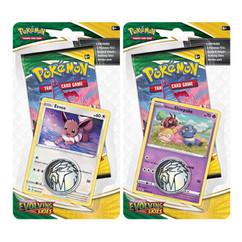 Pokemon: Sword & Shield - Evolving Skies - Checklane Blister Pack - Galarian Slowpoke & Eevee (Set of 2)
