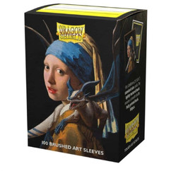 Dragon Shield: Dragons in Art 'Girl with a Pearl Earring' - Art, Brushed Card Sleeves (100ct) (PREORDER)