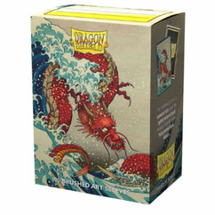 Dragon Shield: Dragons in Art 'The Great Wave' - Art, Brushed Card Sleeves (100ct) (PREORDER)