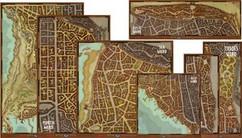 Dungeons & Dragons RPG: Waterdeep Dragon Heist - Map Set (7ct) (Ding & Dent)