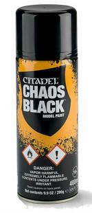 Citadel Paint: Chaos Black Spray (Ding & Dent)