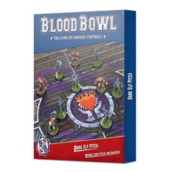 Blood Bowl: Dark Elf Team - Pitch & Dugouts Set (Double-Sided)