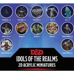 Dungeons & Dragons: Idols of the Realms - Boneyard 2D Acrylic Miniatures Set 1 (PREORDER)