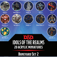 Dungeons & Dragons: Idols of the Realms - Boneyard 2D Acrylic Miniatures Set 2 (PREORDER)