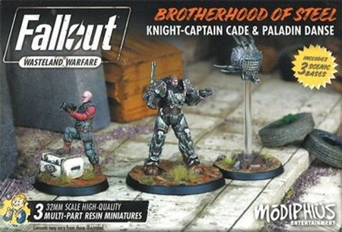 Fallout: Wasteland Warfare - Brotherhood of Steel Knight-Captain Cade & Paladin Danse