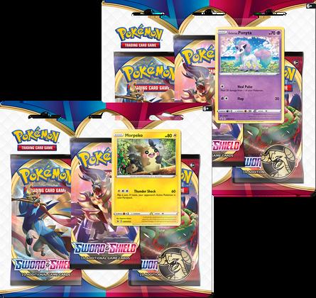 Pokemon: Sword & Shield Three-Booster Blister Pack (Set of 2)