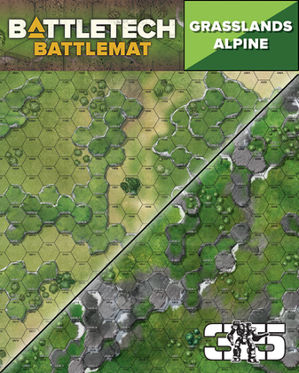 Battletech: Battlemat - Alpine / Grasslands C
