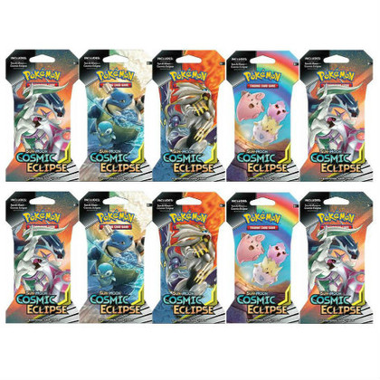 Pokemon: Sun & Moon - Cosmic Eclipse Sleeved Booster Pack (10ct)