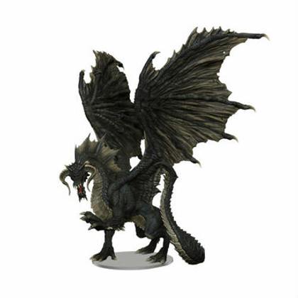 Dungeons & Dragons Miniatures: Icons of the Realms - Adult Black Dragon Premium Figurine