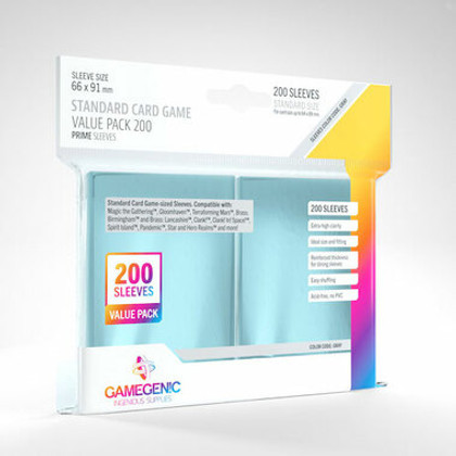 Game Genic Sleeves: Clear Standard Size (200ct)