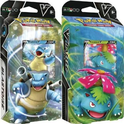 Pokemon: Venusaur V & Blastoise V - V Battle Deck Theme Decks (Set of 2)