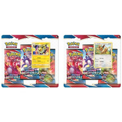 Pokemon: Sword & Shield - Battle Styles Three-Booster Blister Pack (Jolteon & Eevee) (Set of 2)