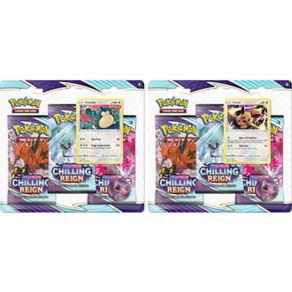 Pokemon: Sword & Shield - Chilling Reign Three-Booster Blister Pack (Snorlax & Eevee) (Set of 2)