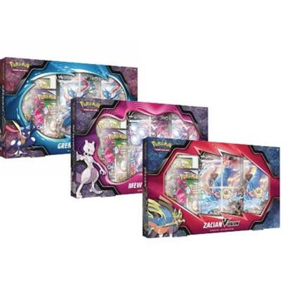Pokemon: Mewtwo, Greninja, & Zacian V-Union Special Collection (Set of 3) (PREORDER)