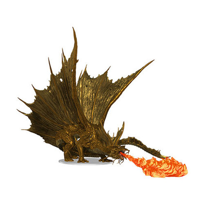 Dungeons & Dragons Miniatures: Icons of the Realms - Adult Gold Dragon Premium Figure (PREORDER)