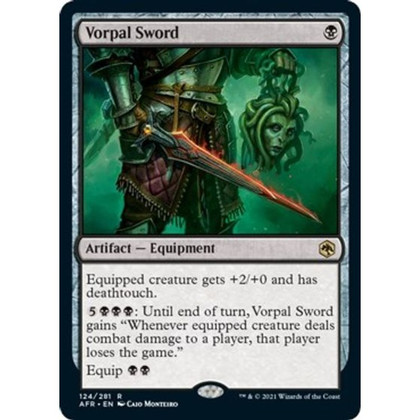 Vorpal Sword: Rare #124 - Adventures in the Forgotten Realms (Foil)