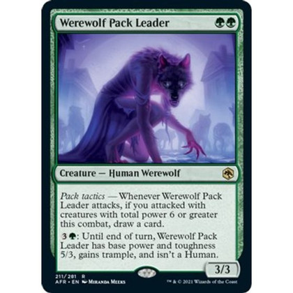 Werewolf Pack Leader: Rare #211 - Adventures in the Forgotten Realms (Foil)
