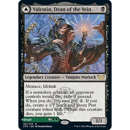 Valentin, Dean of the Vein: Rare #161 - Strixhaven - School of Mages (Foil)