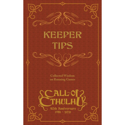 Call of Cthulhu RPG: Keeper Tips Book (PREORDER)