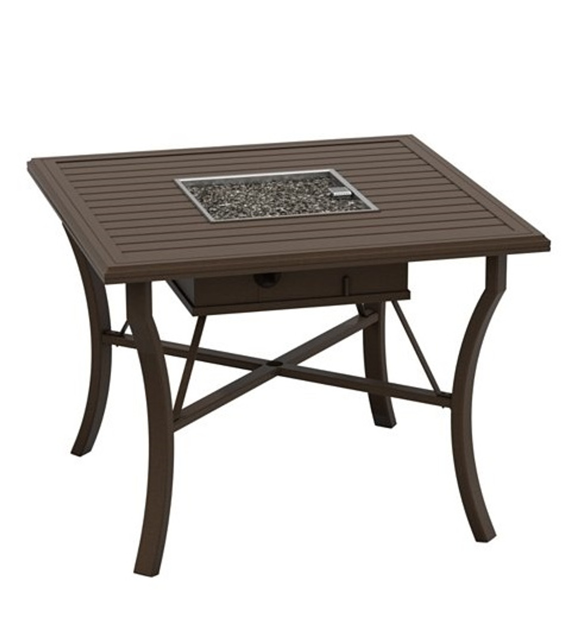 Picture of: Tropitone Banchetto Collection 48 Square Counter Ht Gas Firepit Table